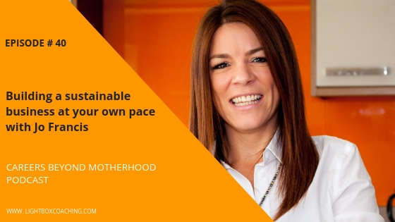 Episode 40 – Building a sustainable business at your own pace with Jo Francis