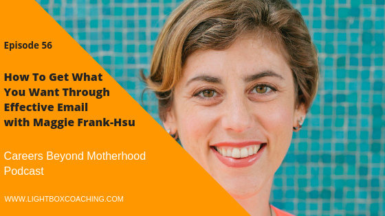 Episode 56 – How To Get What You Want Through Effective Email with Maggie Frank-Hsu