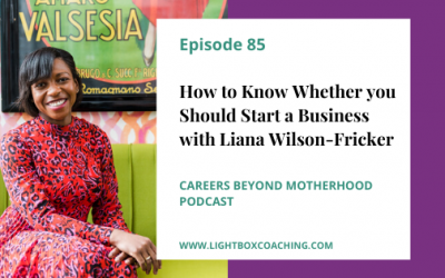 E85 – How to Know Whether You Should Start a Business with Liana Wilson-Fricker